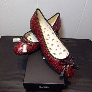 New COACH Ltd Edition Wizard of Oz RUBY SLIPPERS